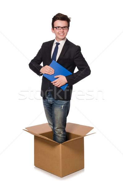 Young businessman in thinking out of box concept Stock photo © Elnur