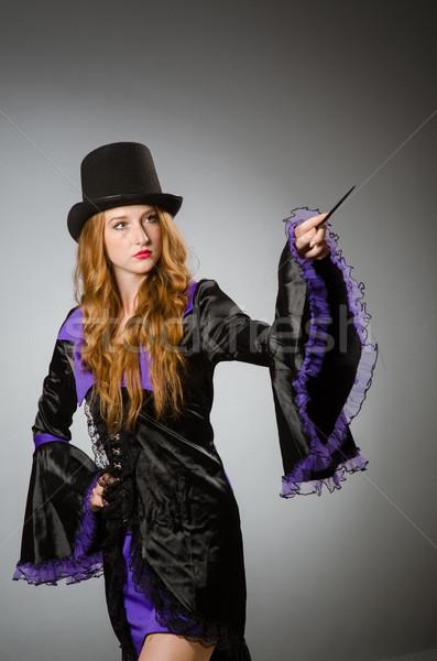 Witch brudne strony uśmiech garnitur portret Zdjęcia stock © Elnur