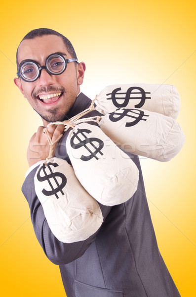 Férfi pénz fehér férfi mosoly arc boldog Stock fotó © Elnur