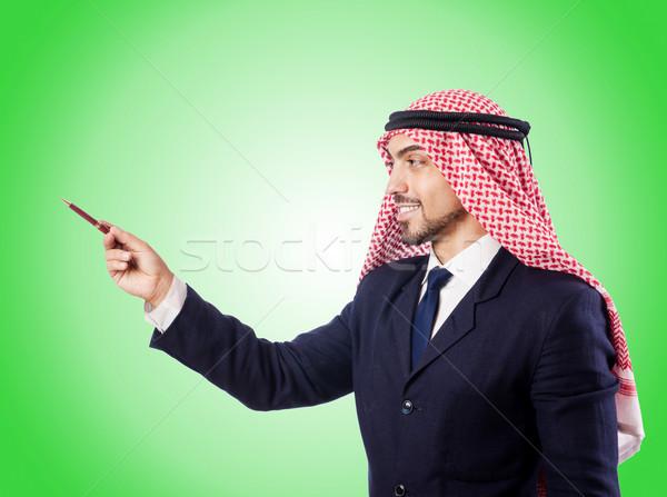 Arab businessman against the gradient  Stock photo © Elnur