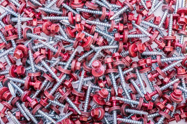 Many screws arranged as background Stock photo © Elnur