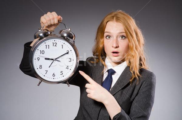 Imprenditrice clock tardi donna lavoro imprenditore Foto d'archivio © Elnur