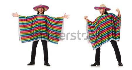 Mexikói élénk tart gitár izolált fehér Stock fotó © Elnur