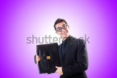 Femme d'affaires dynamite blanche fille fond affaires Photo stock © Elnur