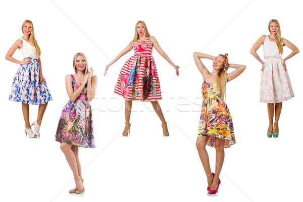 Stock photo: Set of photos in fashion concept