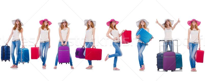 Szett fotók nő utazás tengerpart lány Stock fotó © Elnur