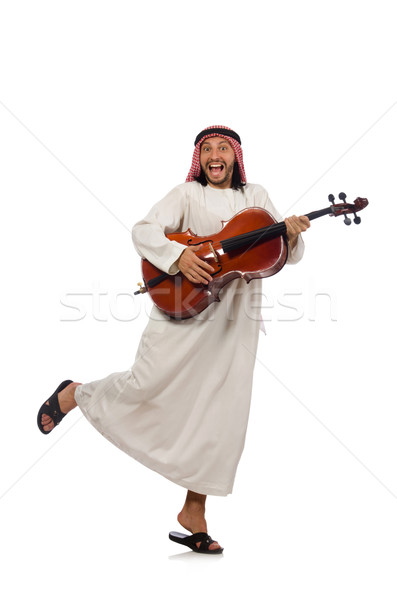 Stock photo: Arab man playing musical instrument