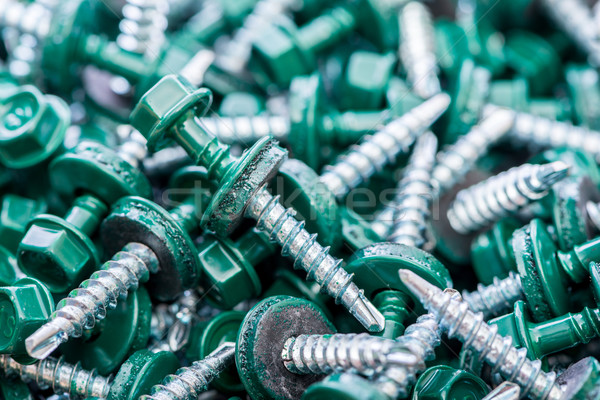 Many screws arranged as background Stock photo © Elnur