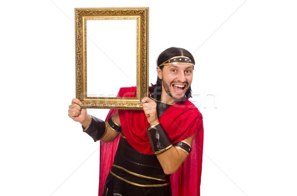 Gladyatör resim çerçevesi yalıtılmış beyaz adam Stok fotoğraf © Elnur