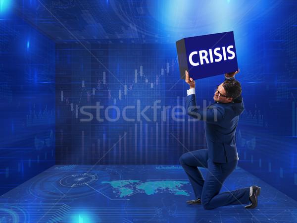 Empresário crise negócio dinheiro corporativo mercado Foto stock © Elnur