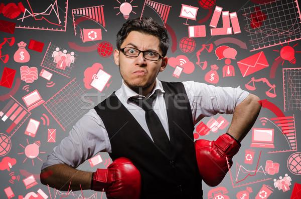 面白い ボクサー ビジネスマン スポーツ ビジネス 男 ストックフォト © Elnur