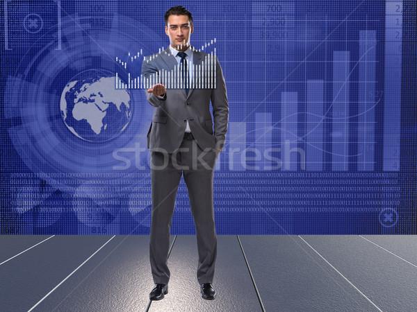 Man beurs handel geld werk zakenman Stockfoto © Elnur