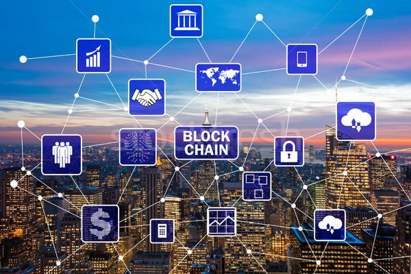 Bazy danych zarządzania miasta technologii bezpieczeństwa sieci Zdjęcia stock © Elnur