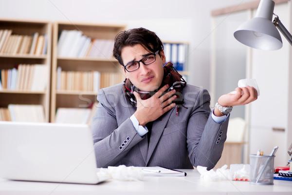 Ziek ziek zakenman kantoor gezondheid uitvoerende Stockfoto © Elnur
