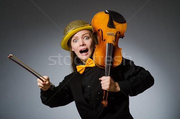 Nő musical művészet koncert női profi Stock fotó © Elnur