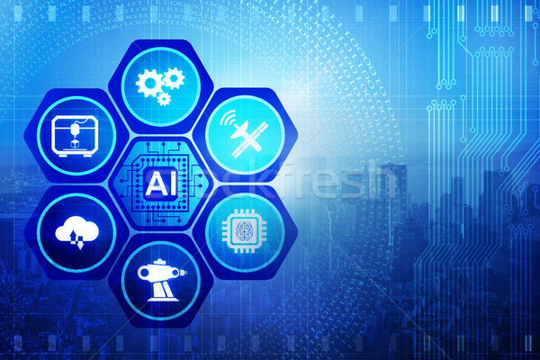Artificial intelligence modern computing concept Stock photo © Elnur