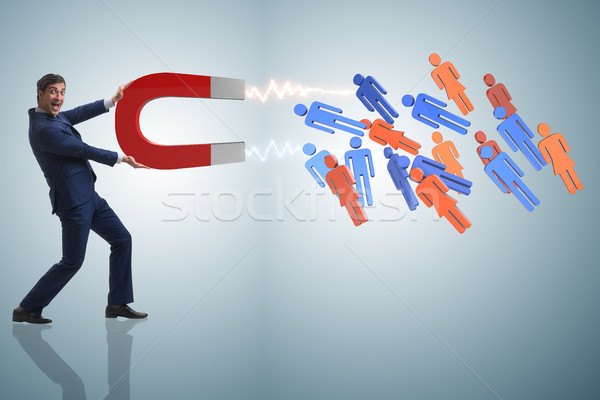 üzletember toborzás patkó mágnes hálózat munkás Stock fotó © Elnur