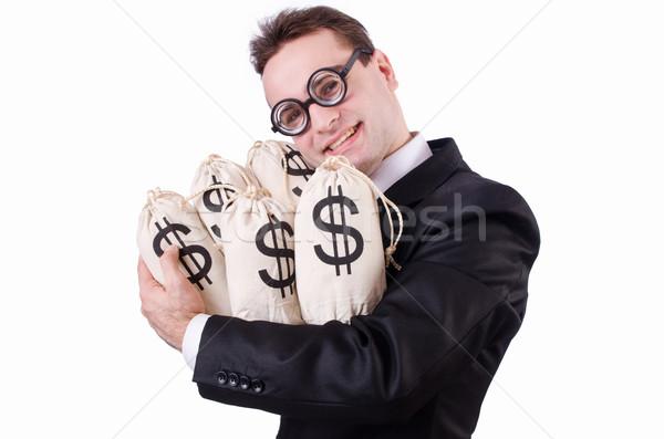 бизнесмен деньги белый бизнеса лице костюм Сток-фото © Elnur