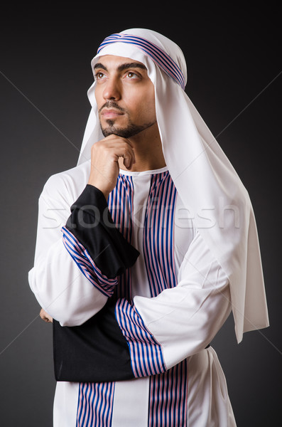 Arab man in deep thinking mode Stock photo © Elnur