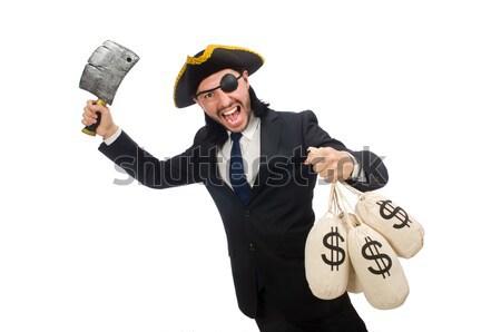 Homem pistola dinheiro sensual modelo fundo Foto stock © Elnur