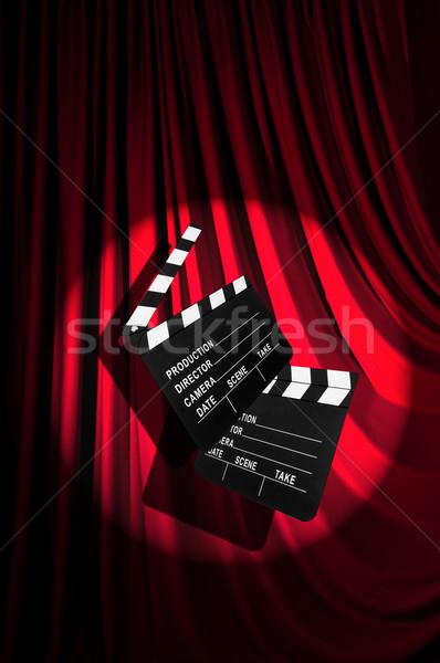Film bord rideau fond art industrie Photo stock © Elnur