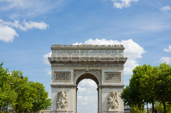 Arc de Triomphe in Paris Stock photo © Elnur
