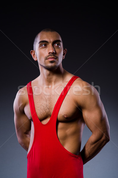 Young wrestler isolated on the white Stock photo © Elnur
