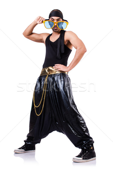 Rap dancer isolated on the white Stock photo © Elnur