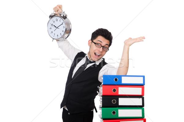 Hombre cumplir plazos trabajo empresario tiempo Foto stock © Elnur