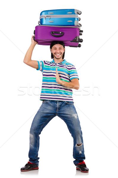 Viaggio vacanze bagaglio bianco felice sfondo Foto d'archivio © Elnur