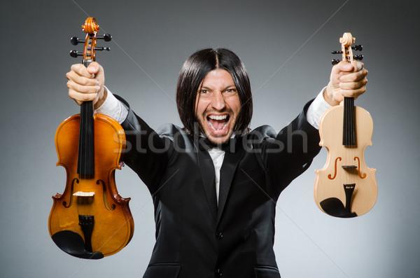 Сток-фото: человека · скрипки · игрок · весело · звук · мужчины
