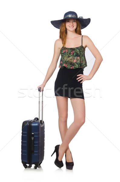 Utazás vakáció csomagok fehér lány boldog Stock fotó © Elnur