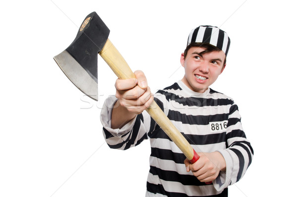 Stock photo: Funny prison inmate in concept