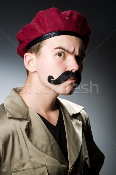Foto d'archivio: Divertente · soldato · militari · uomo · sfondo · sicurezza