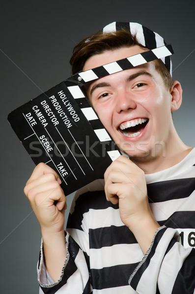 ストックフォト: 刑務所 · 受刑者 · 面白い · 映画 · 正義 · レトロな