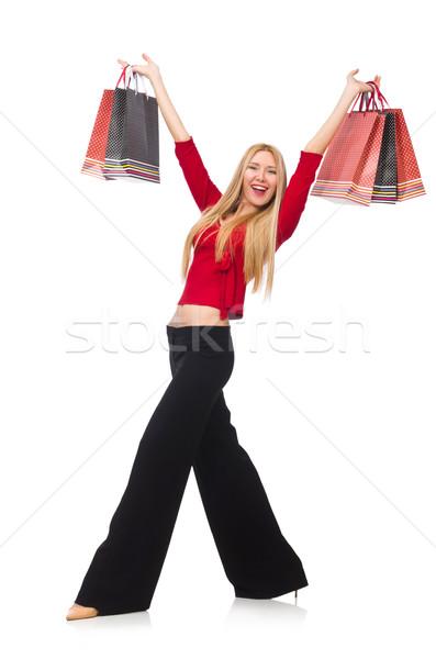 брюки изолированный белый счастливым моде Сток-фото © Elnur