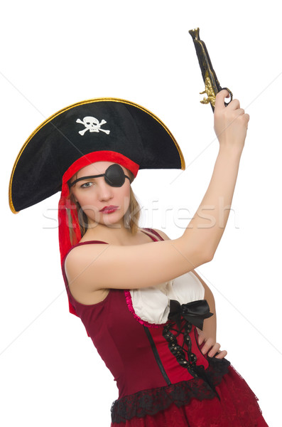 Woman pirate isolated on white Stock photo © Elnur