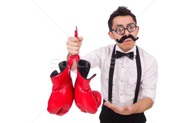 Funny boxer isolated on the white background Stock photo © Elnur