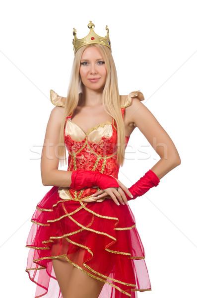 クイーン 赤いドレス 孤立した 白 女性 スーツ ストックフォト © Elnur