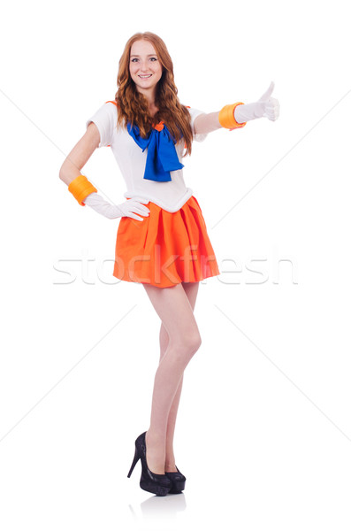 Red head sailor moon isolated on white Stock photo © Elnur