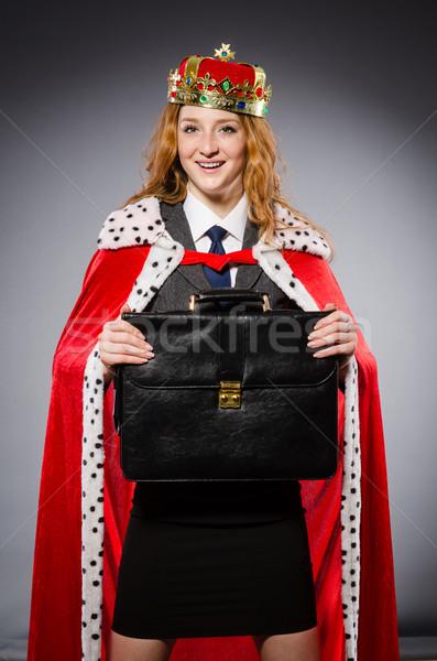 Donna regina imprenditrice divertente lavoro imprenditore Foto d'archivio © Elnur