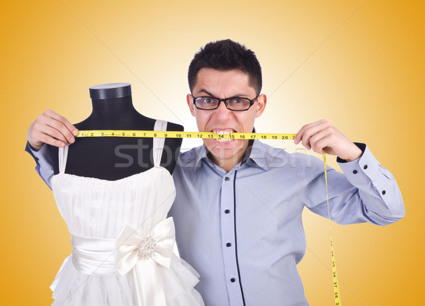 Grappig mannelijke kleermaker witte business meisje Stockfoto © Elnur