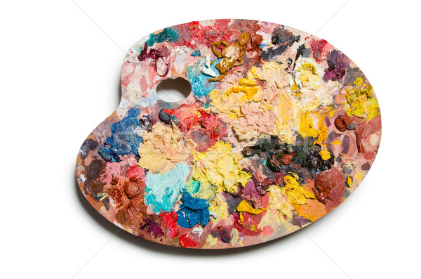 Artist palette isolated on the white Stock photo © Elnur