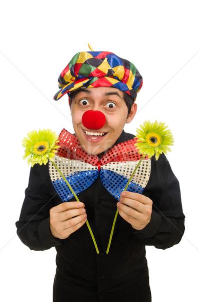 Grappig clown geïsoleerd witte glimlach liefde Stockfoto © Elnur
