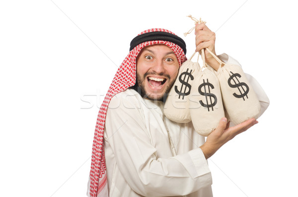 Arab businessman with sacks of money Stock photo © Elnur
