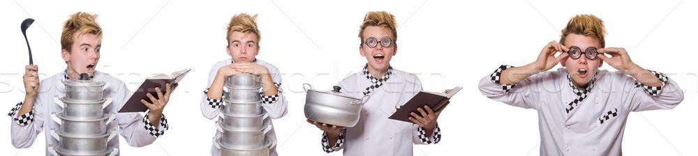 Zestaw zdjęć funny gotować książki kuchnia Zdjęcia stock © Elnur