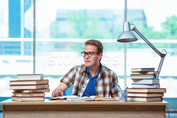 Young male student preparing for high school exams Stock photo © Elnur