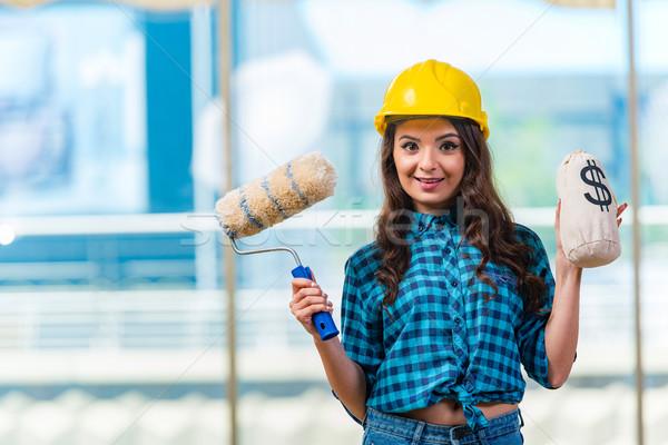 Agradable de trabajo sonrisa construcción diseno Foto stock © Elnur