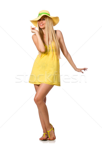 Uczciwej model żółty lata sukienka Zdjęcia stock © Elnur