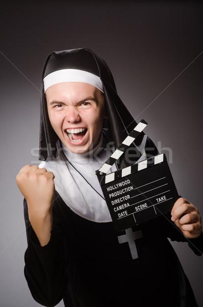 Engraçado homem freira roupa atravessar Foto stock © Elnur